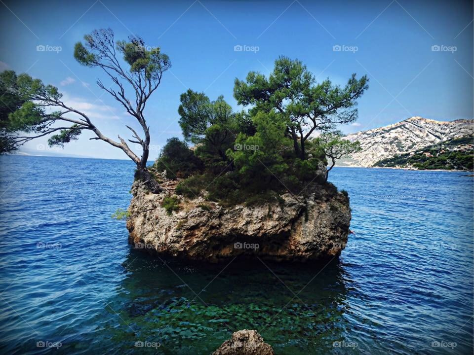 Brela rock in Makarska