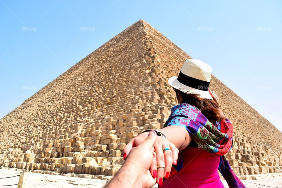 Follow Me To Egypt. I Took This Photo For My Sister While We Were Visiting The Great Pyramids in Egypt