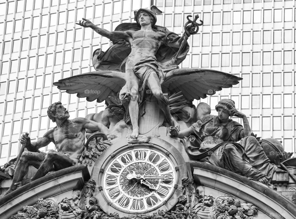 Frieze and clock at Grand Central