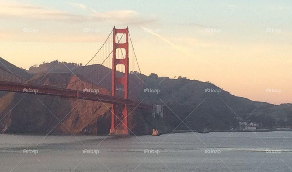 Golden Gate Bridge by sunset