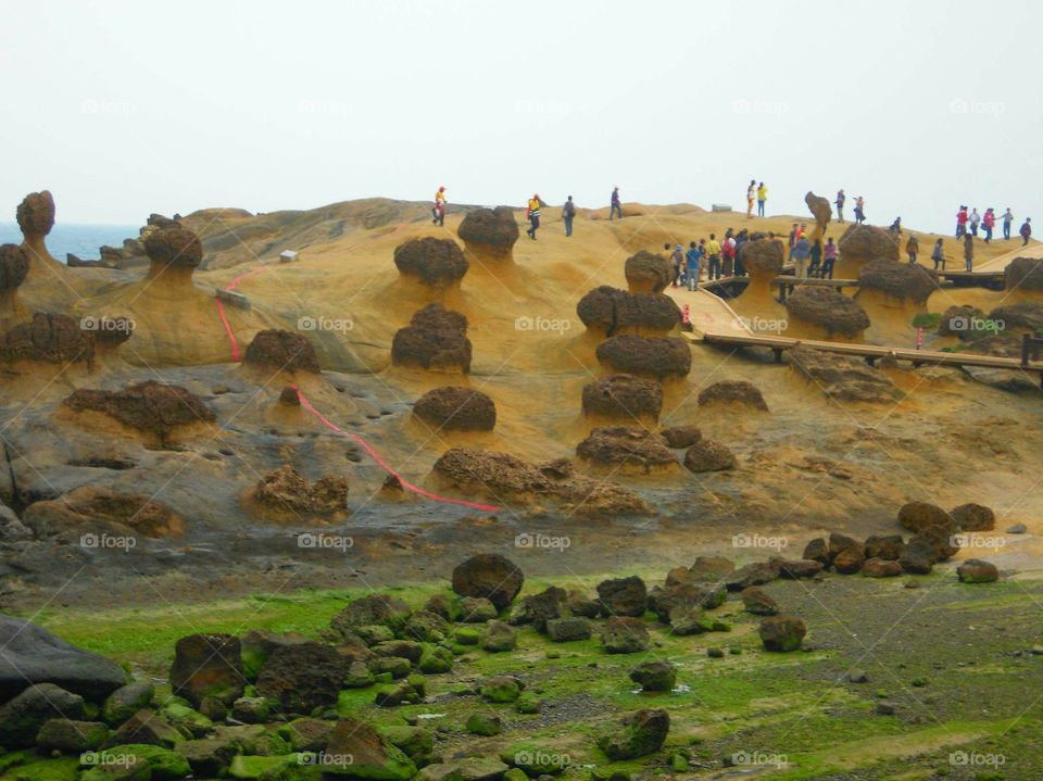 Rocks formation at Geological Park in Taiwan