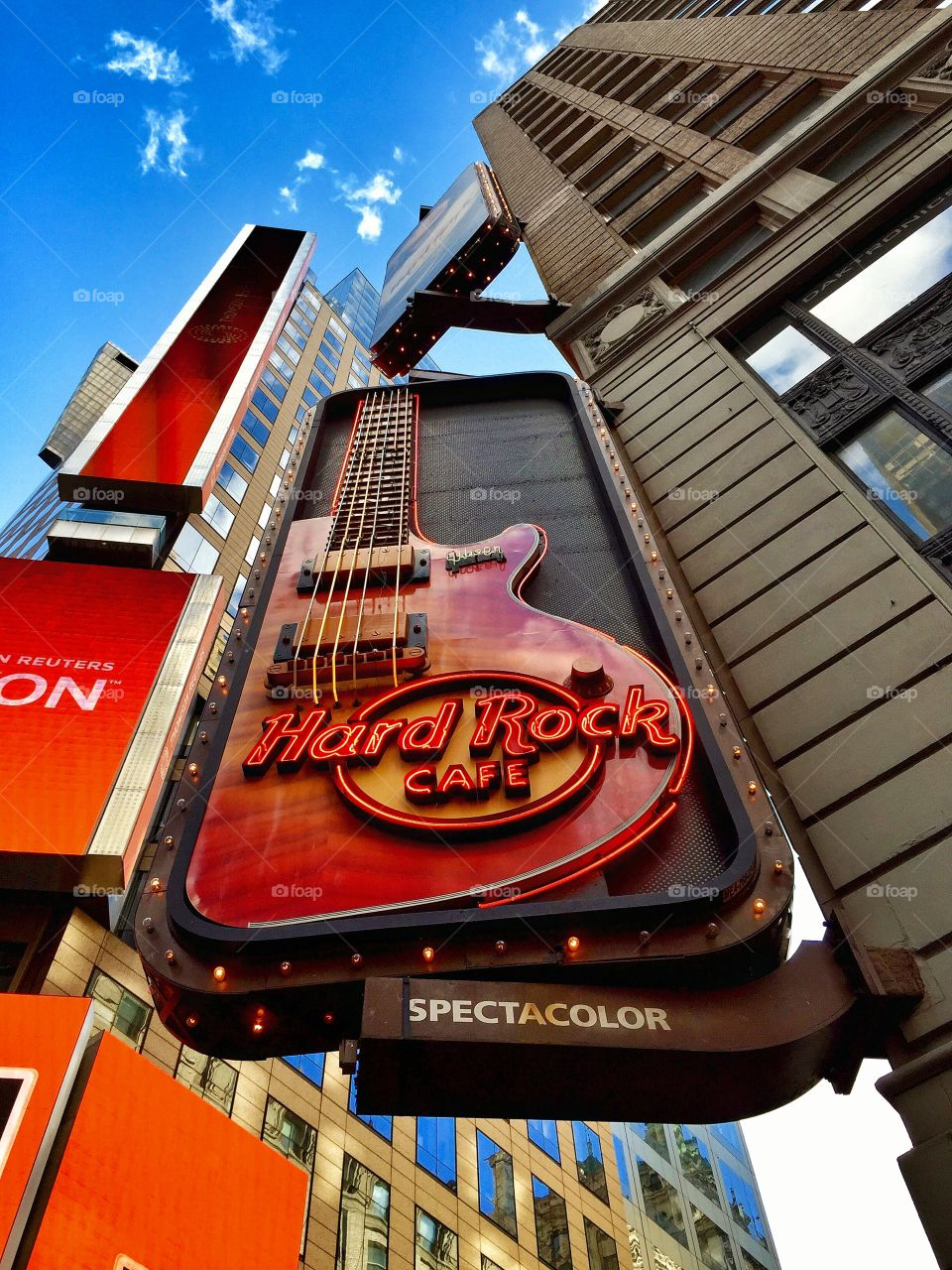 Times Square Hard Rock Cafe. Hard Rock Cafe, Times Square, New York City