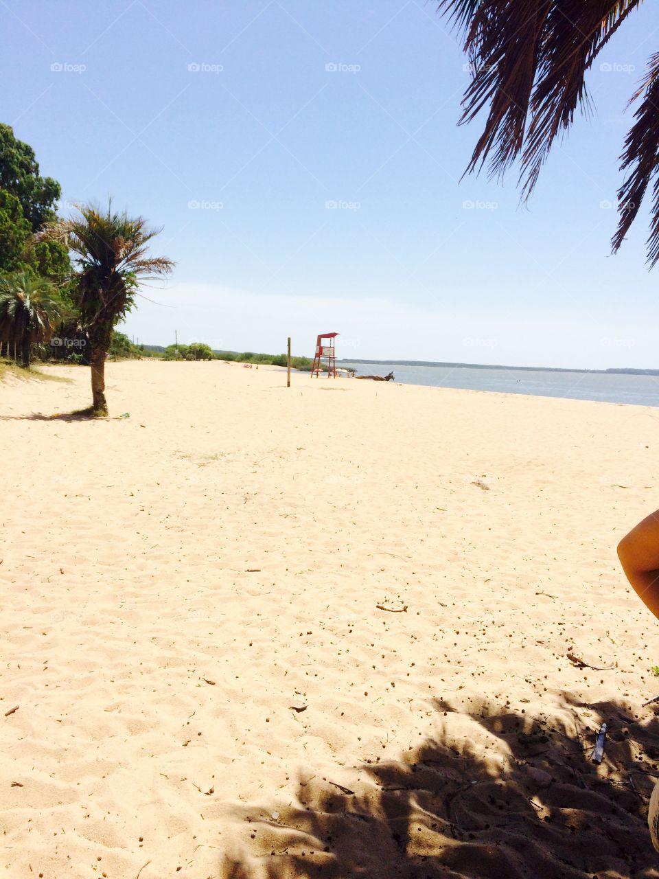 I love beach.
