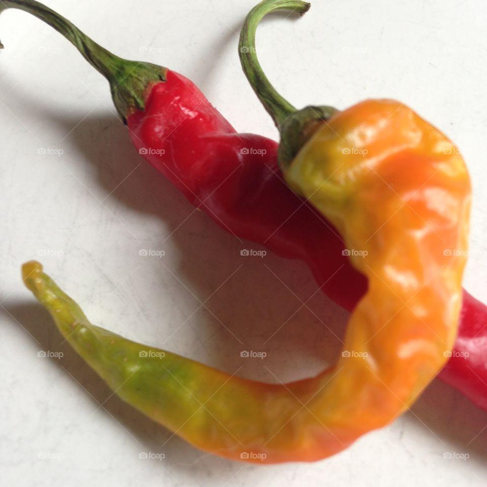 Italian hot peppers garden grown