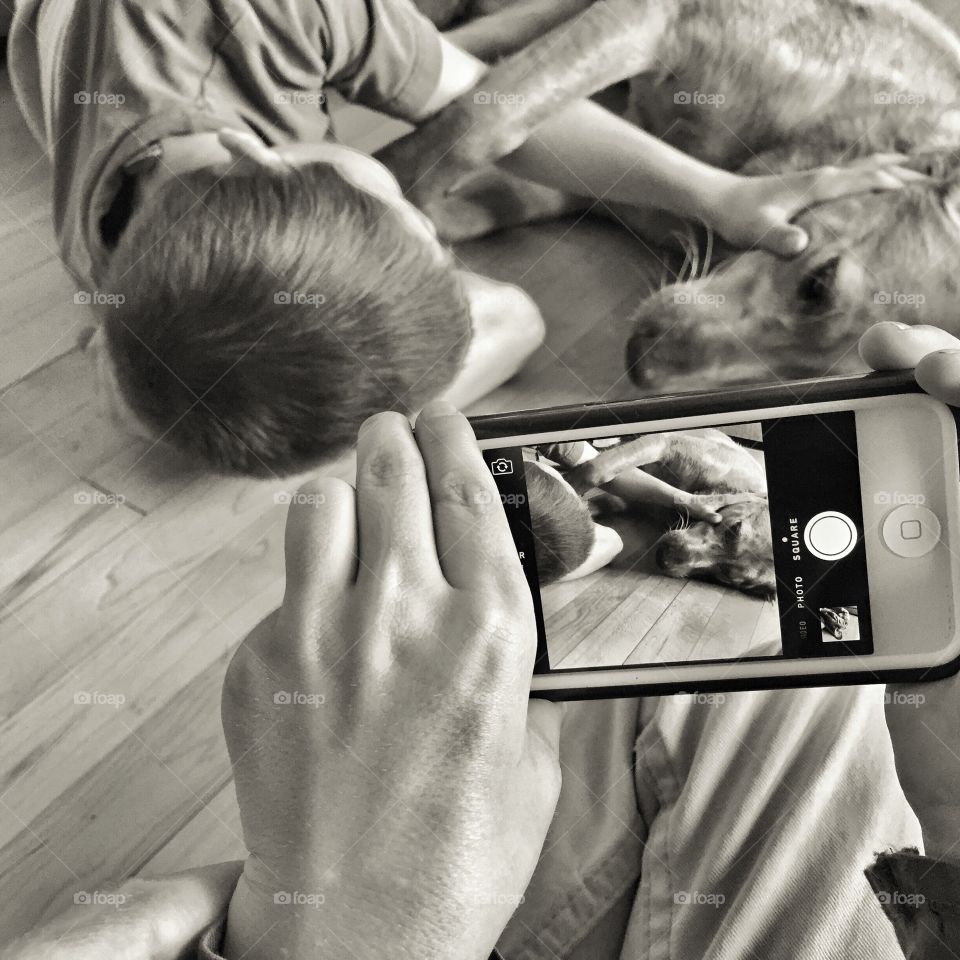 Photographing the Boy and his Dog