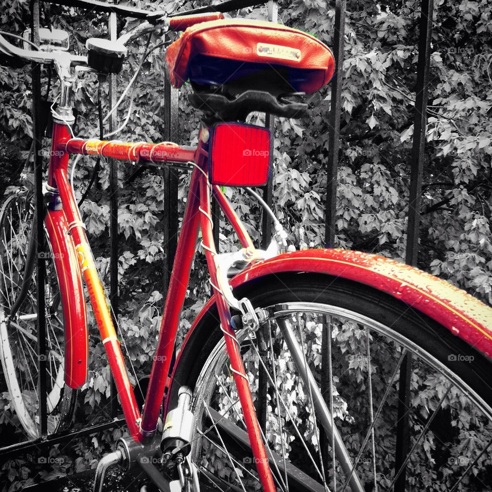 bicycle orange by apearcy87