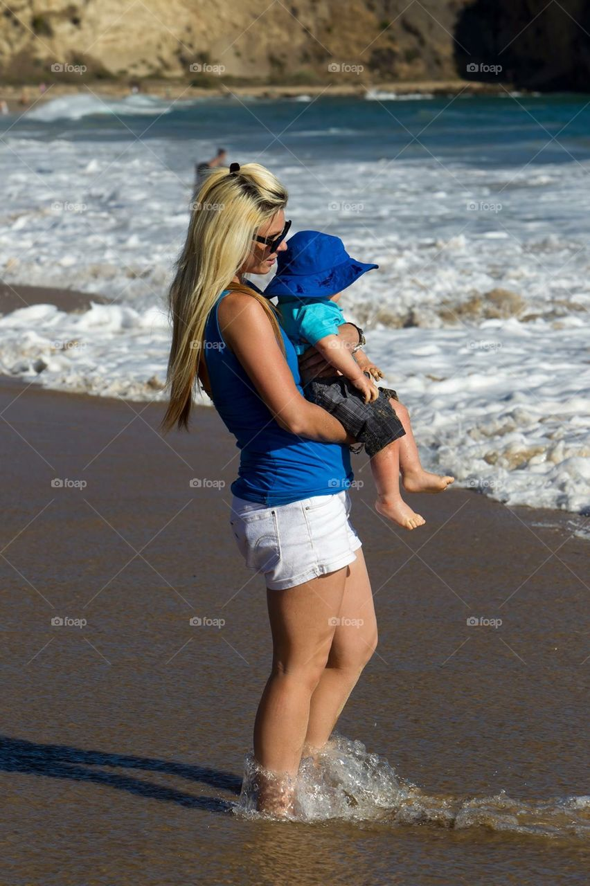 Crystal Cove ~Laguna Beach ~ to show Carter the ocean for his first time.