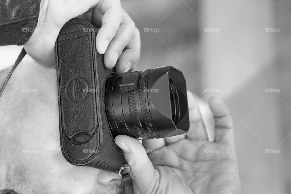 The Leica's man