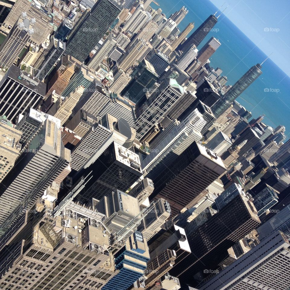 Chicago. View from Chicago's Willis Tower