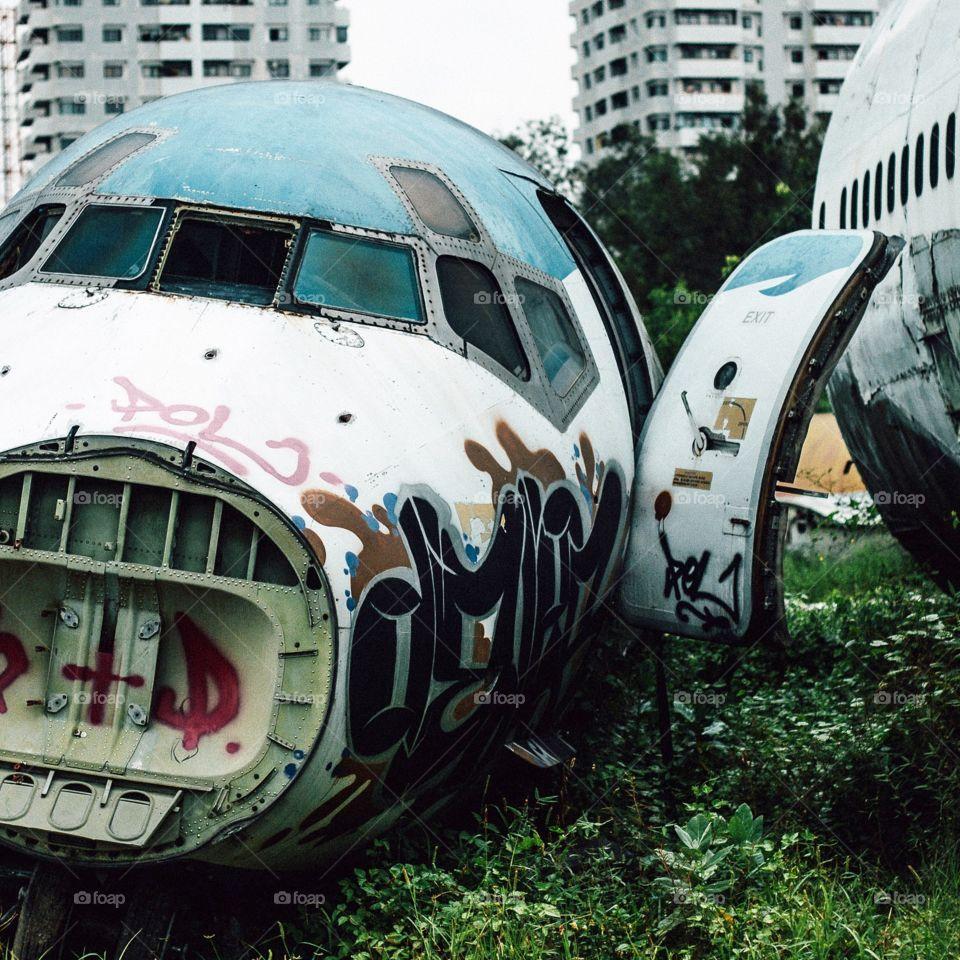 Airplane in Bangkok