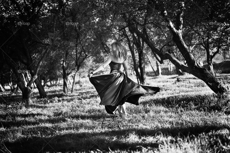 Girl dancing in the park