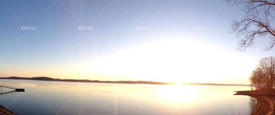 Sunrise over Kentucky Lake