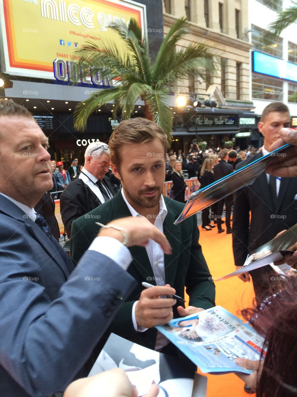 Ryan Gosling at the UK Movie Premiere of Nice Guys, meeting the fans