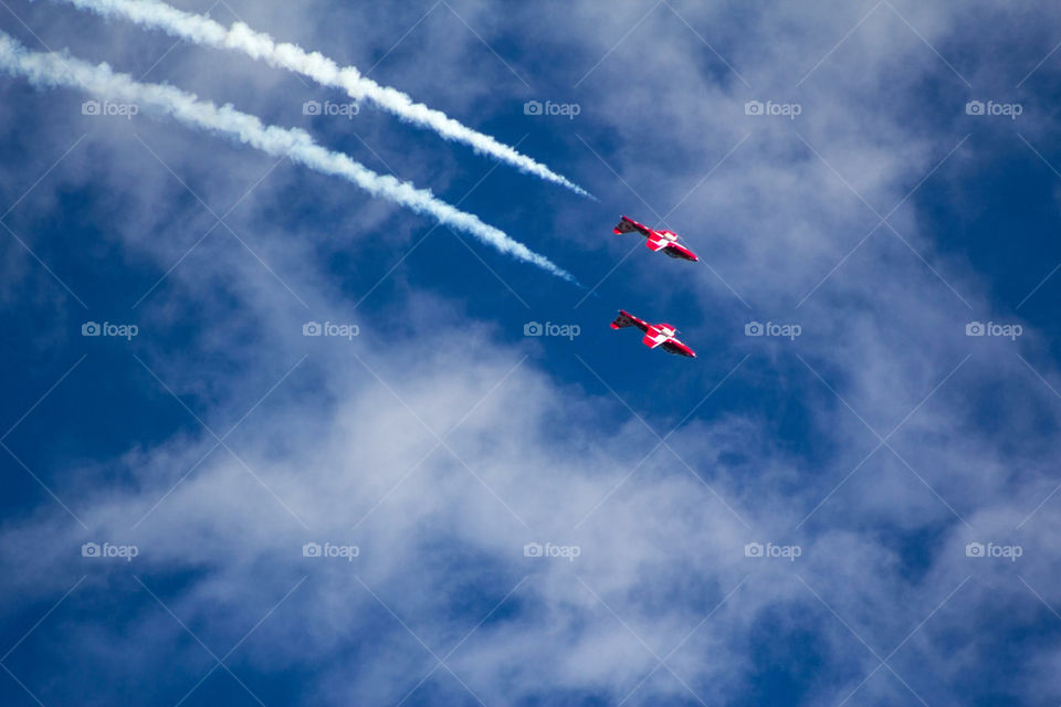 Twin Red Jets