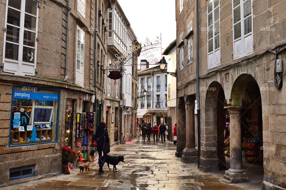 A walk in the old city. Santiago de Compostela.