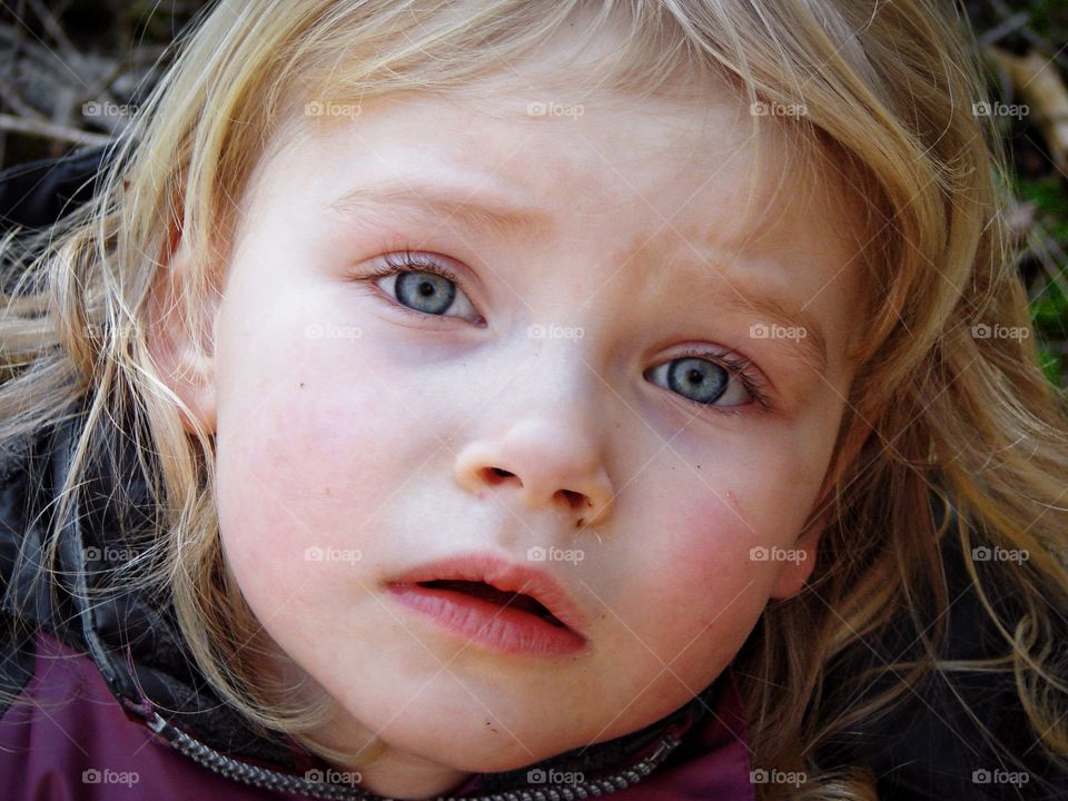 Girl with sad expression