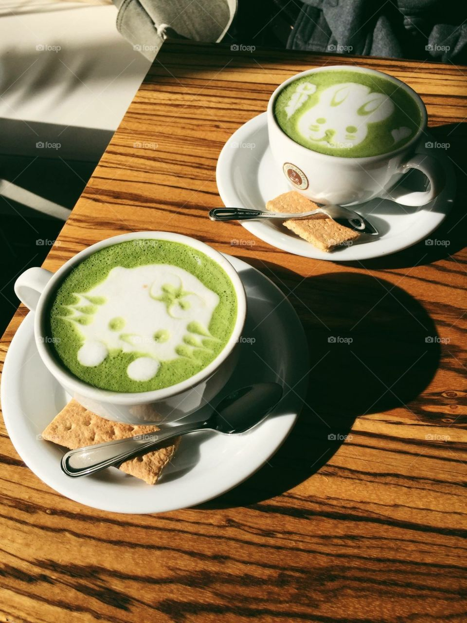 Hello kitty matcha latte