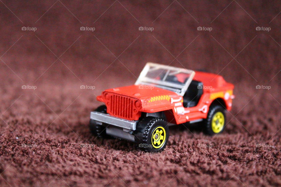 Jeep miniature toy macro