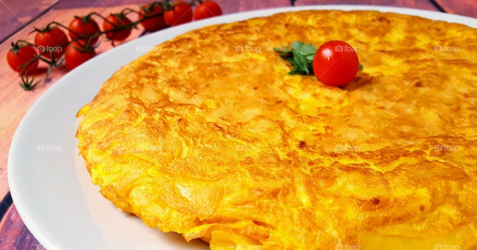 Spanish tortilla for lunch