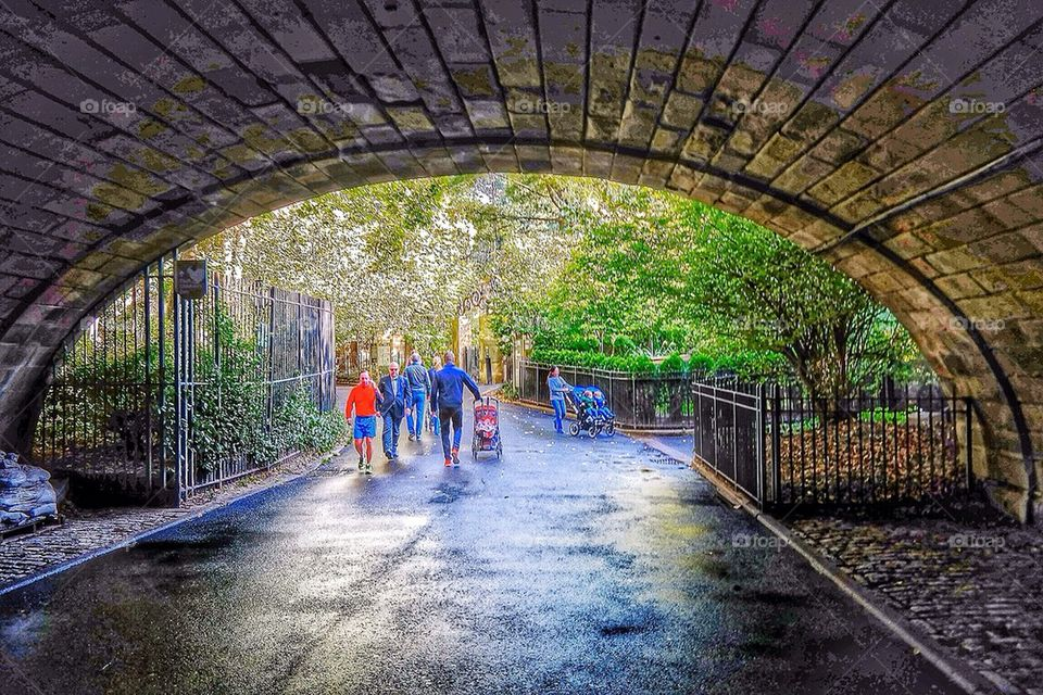 Tunnel into Central park