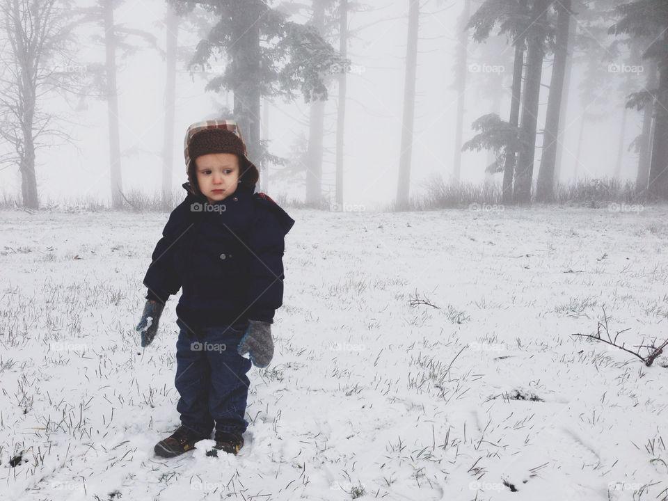 Little Boy in the Zsnow