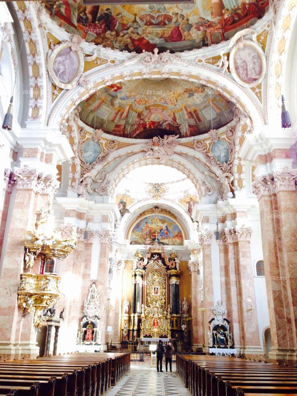 interior of church in Innsbruck