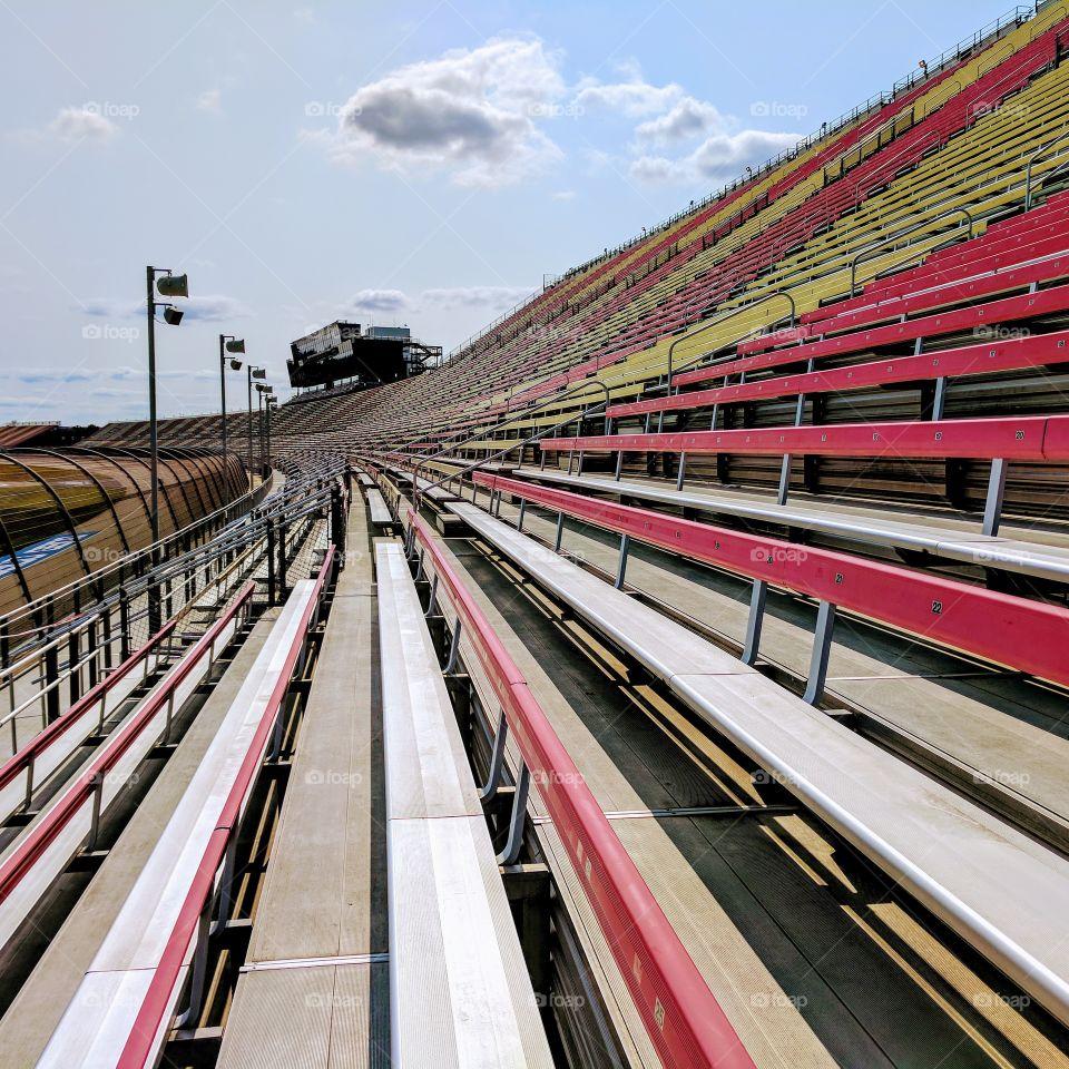 Empty Bleachers at NASCAR Stadium