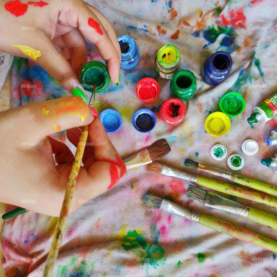 hobby time with clash of colors