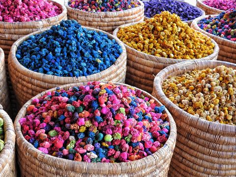 Colorful items for sale in market stall