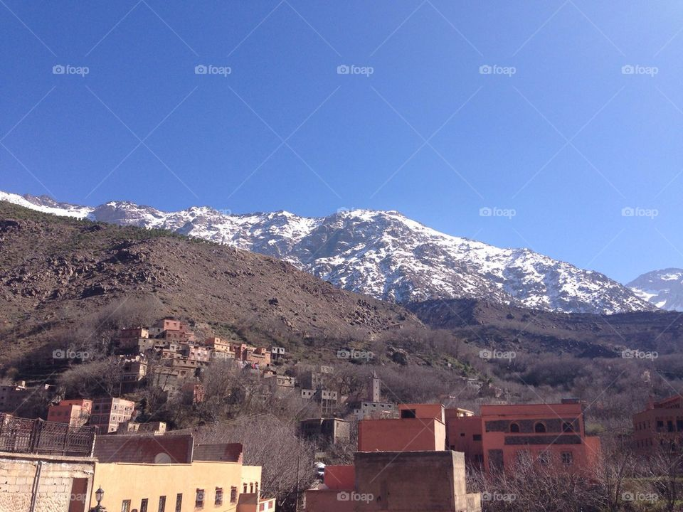 Snowy Mountain in Morocco