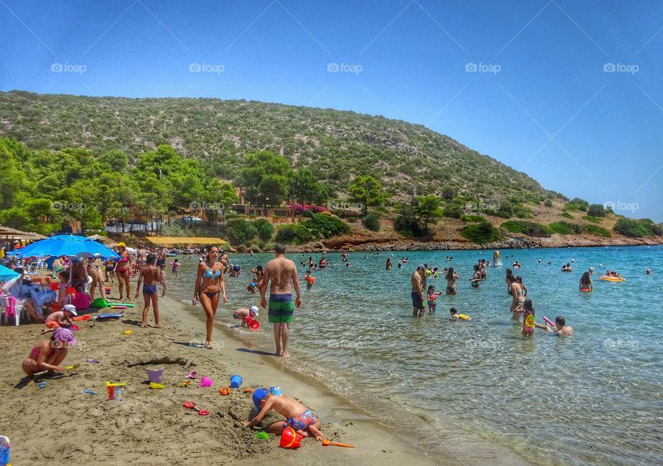 Greece summer beach. Greece summer beach