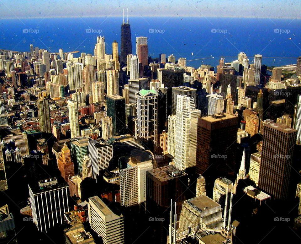 Birds eye Chicago