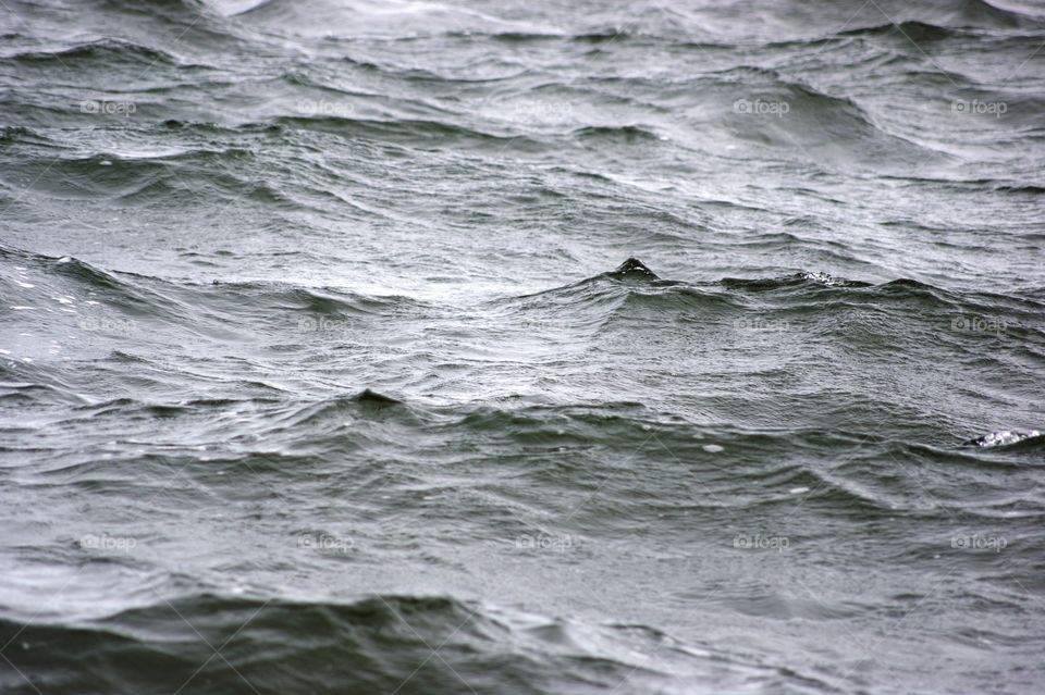 waves . raining on the water