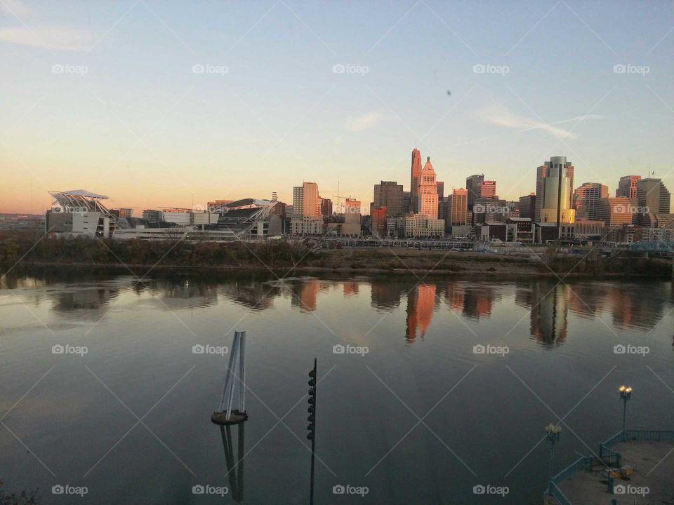 Cincinnati Skyline/Paul Brown Stadium