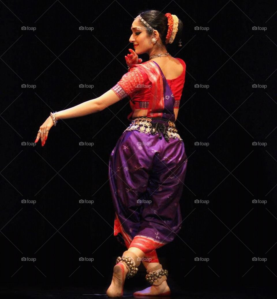 Dancer wearing traditional costume