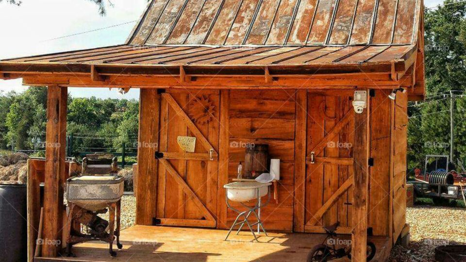 Preserved rustic outhouse
