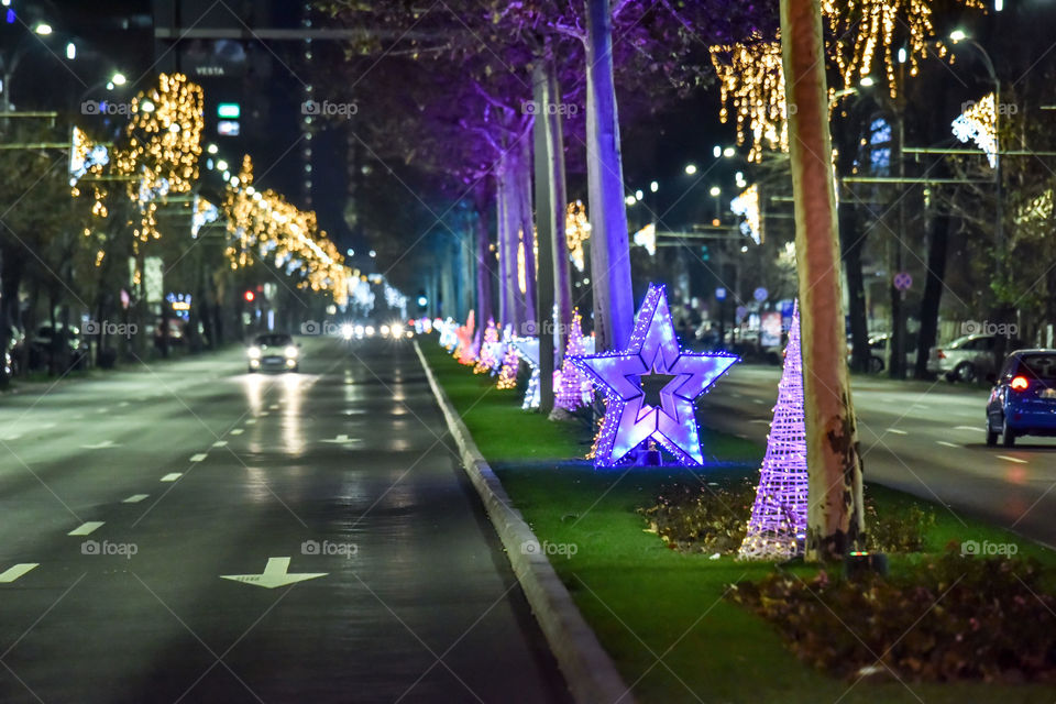 Christmas decorations in bucharest