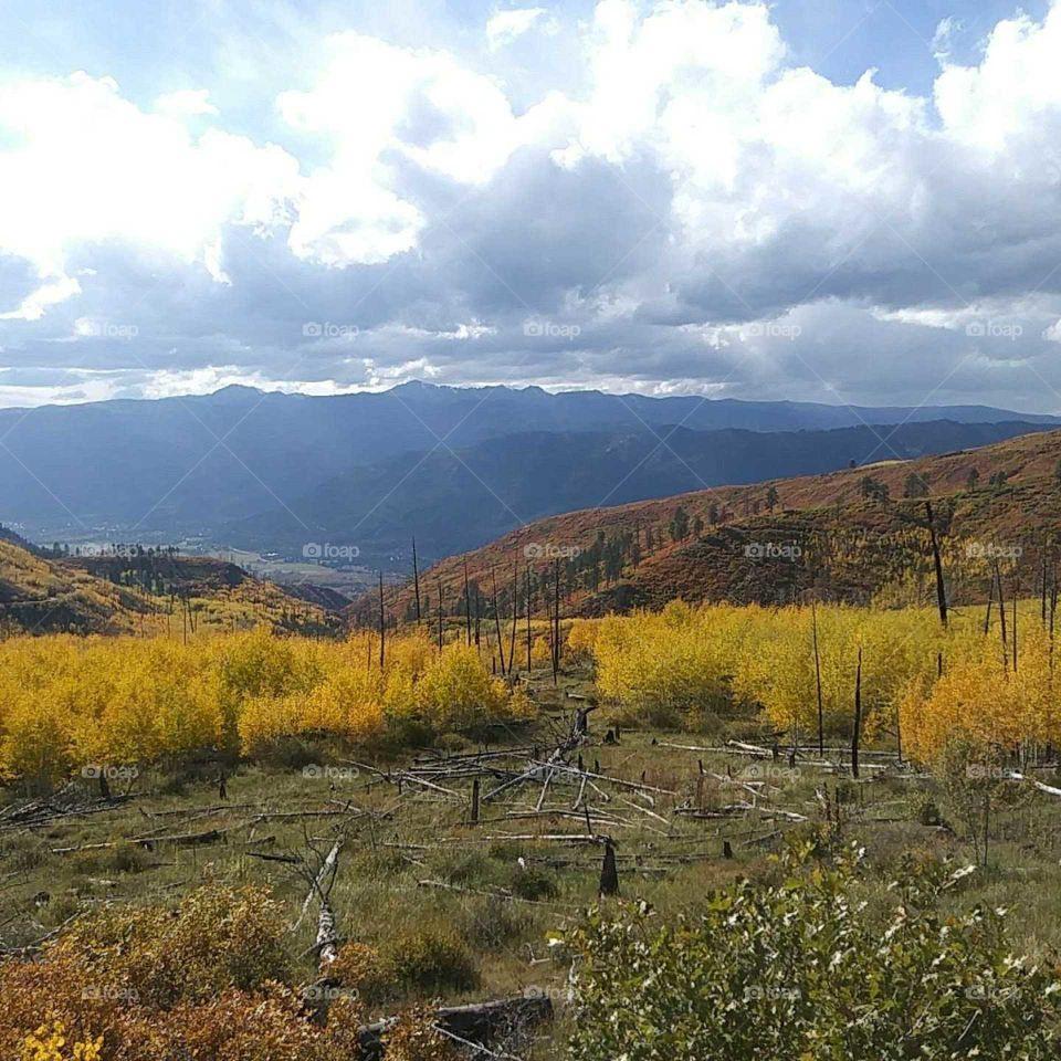 fall colors on missionary ridge