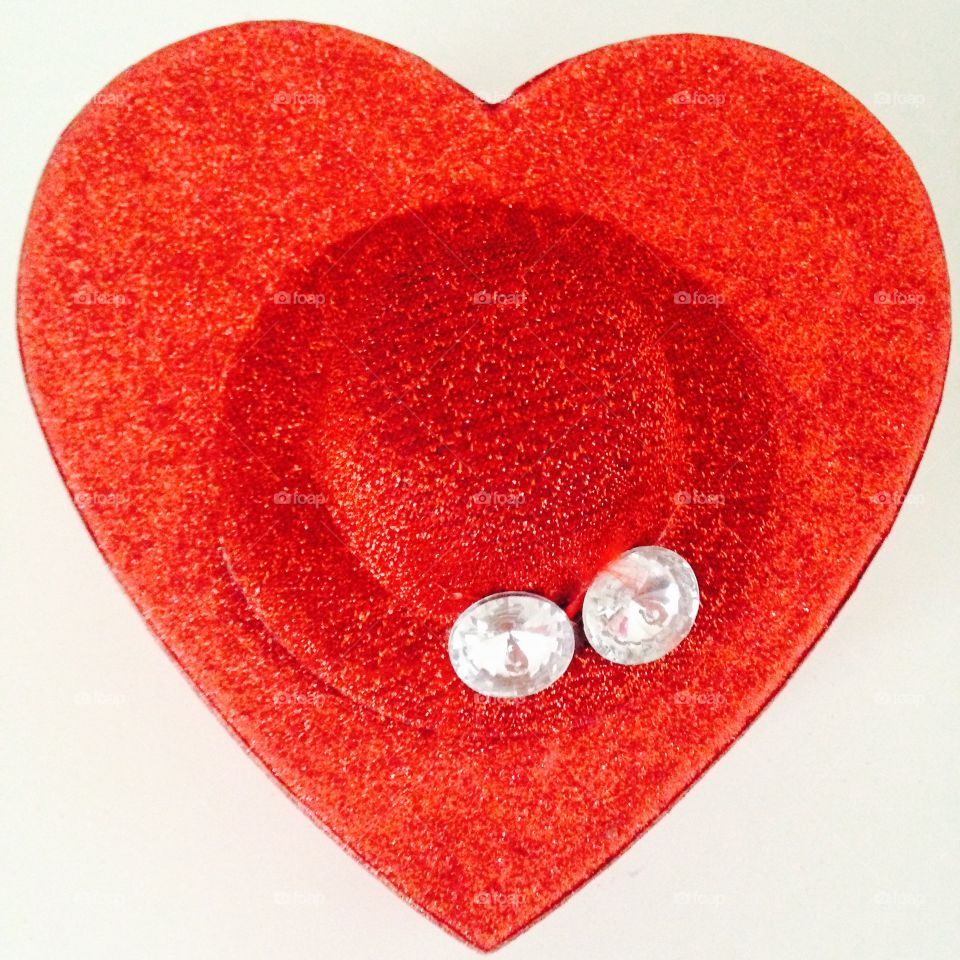 Blood Red heart shape