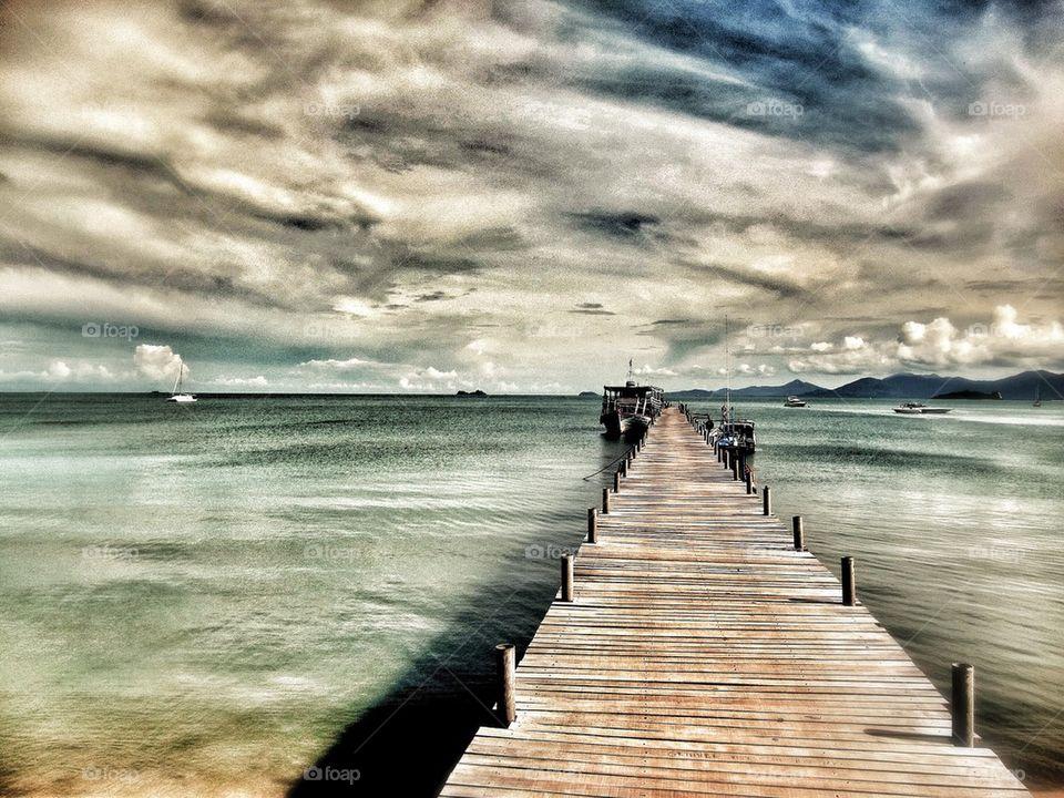 Board Walk on Calm Seas