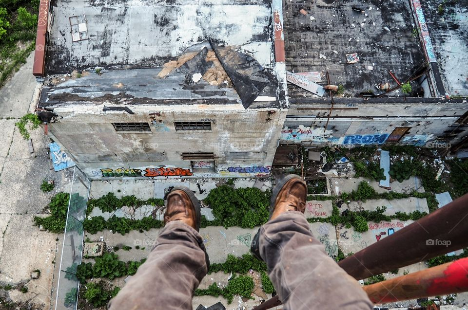 POV from atop an abandoned mill.