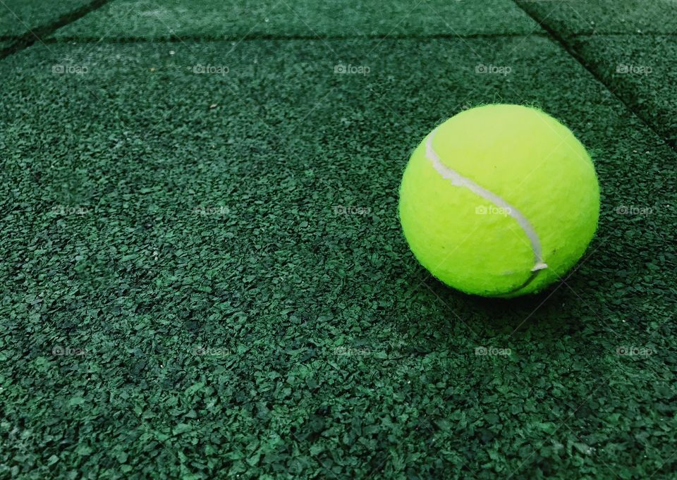 Close-up of tennis ball