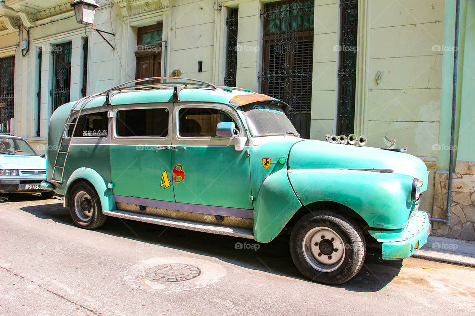 Classical car on the street in old Havana