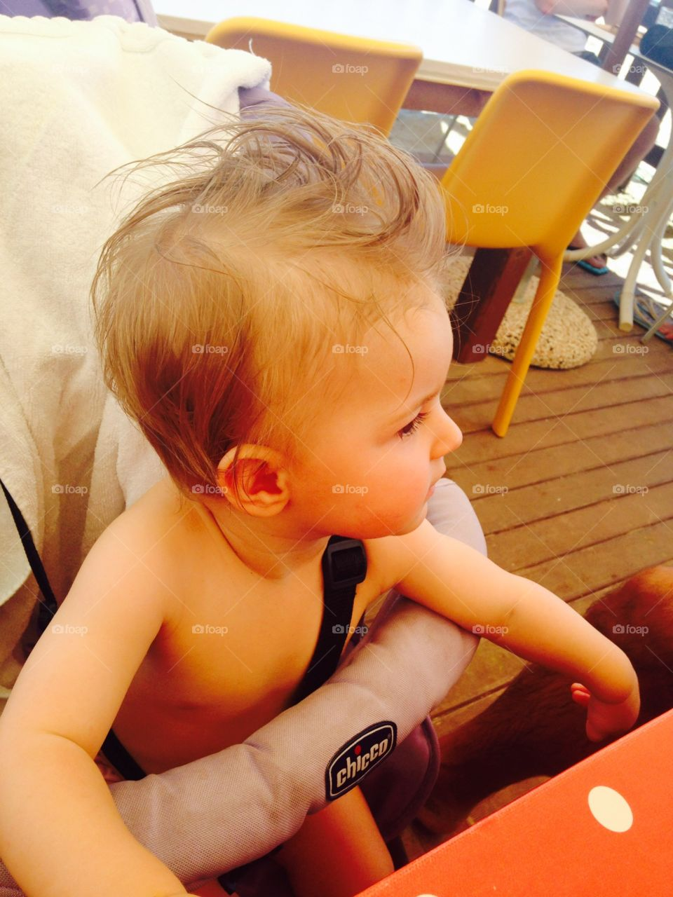 Baby with funny hair