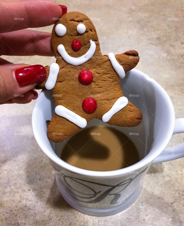 Holding gingerbread man
