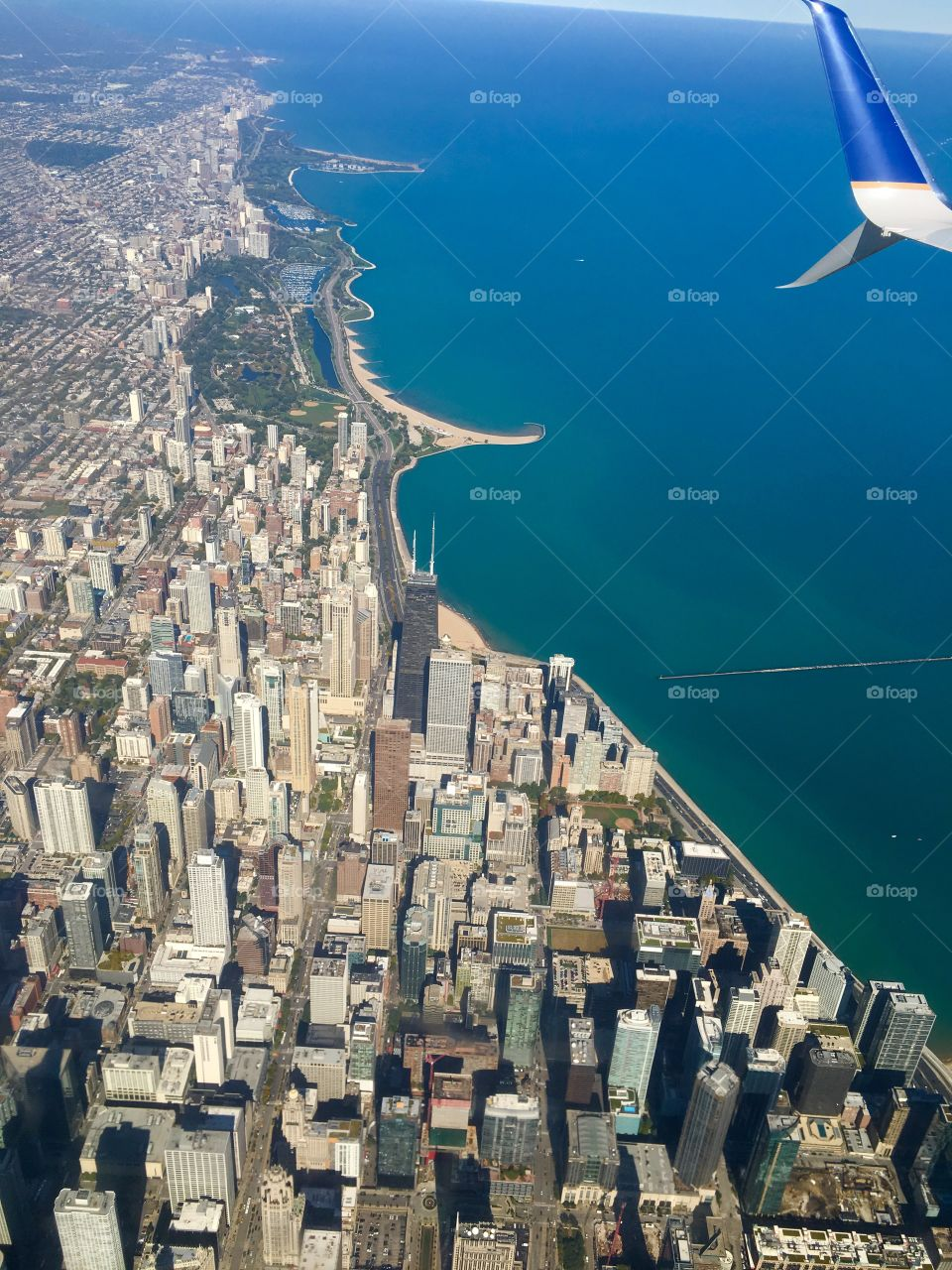 About to land in Chicago and had to snap this shot!