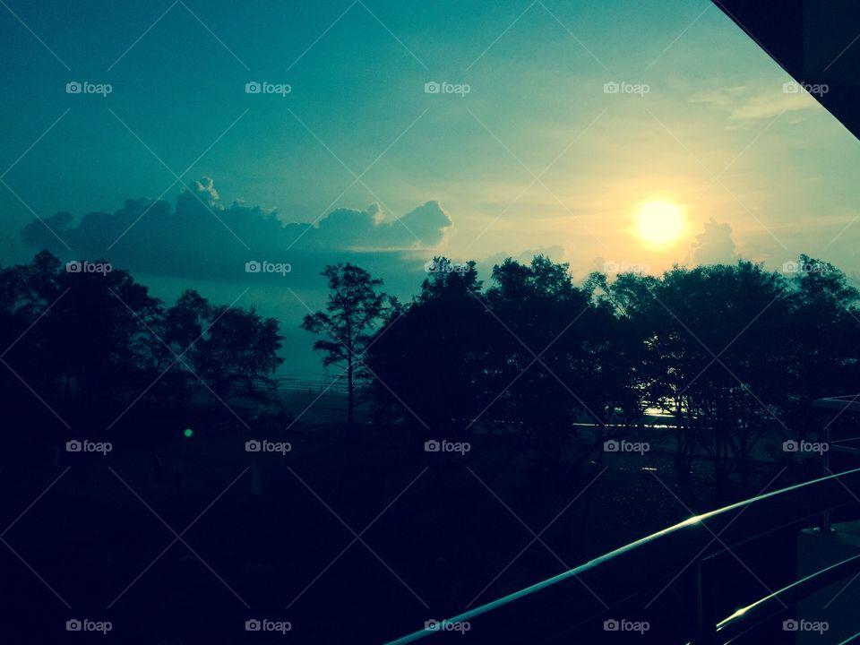 Sunrise in Kuantan . Photo taken right after I woke up