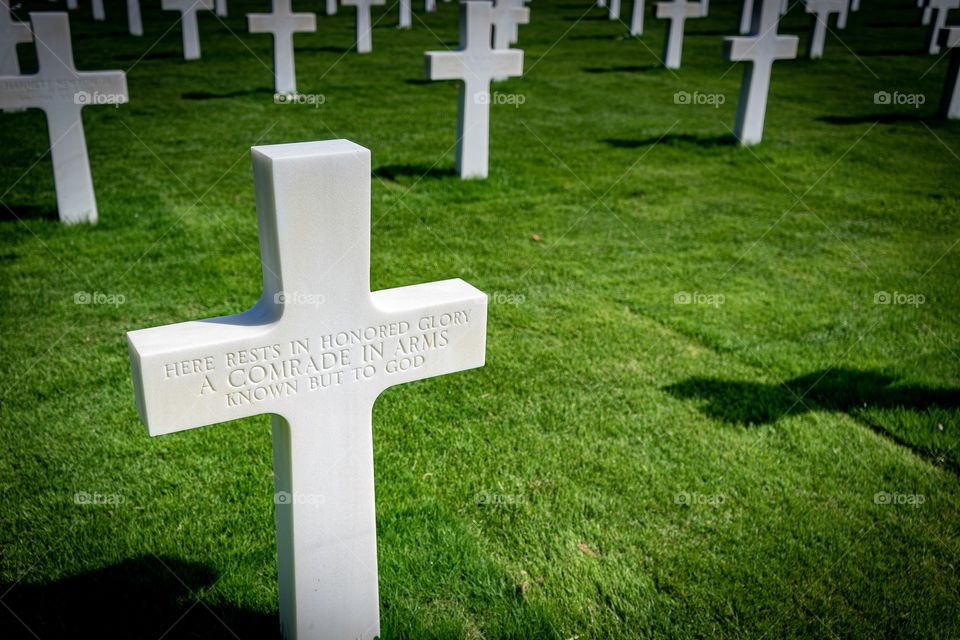 Omaha Beach American Cemetery, Colleville sur mer, Normandy France.