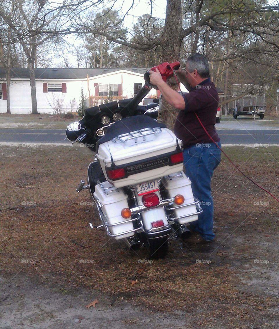 redneck bike dryer
