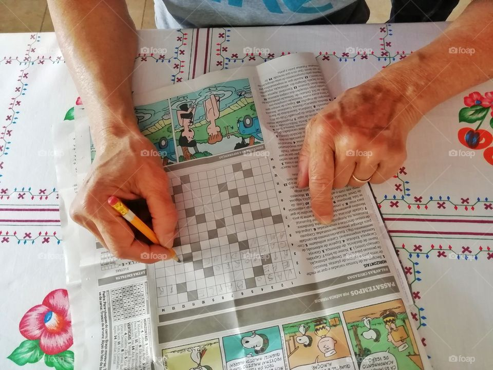 Staying in good mental shape doing newspaper's crosswords